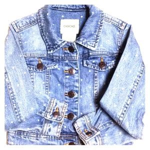 Polka Dot Girls Jean Jacket